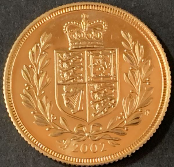 2002 Gold Sovereign